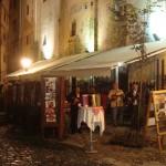 Musicians in the bohemian Street Skadarlija