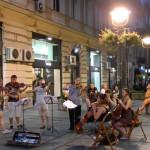 Artistic Belgrade - Street Musicians in the pedestrian Street Knez Mihajlo