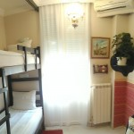Double room with bunk beds and shared bathroom