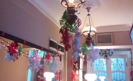 Authentic Belgrade Centre Hostel New Year's decoration