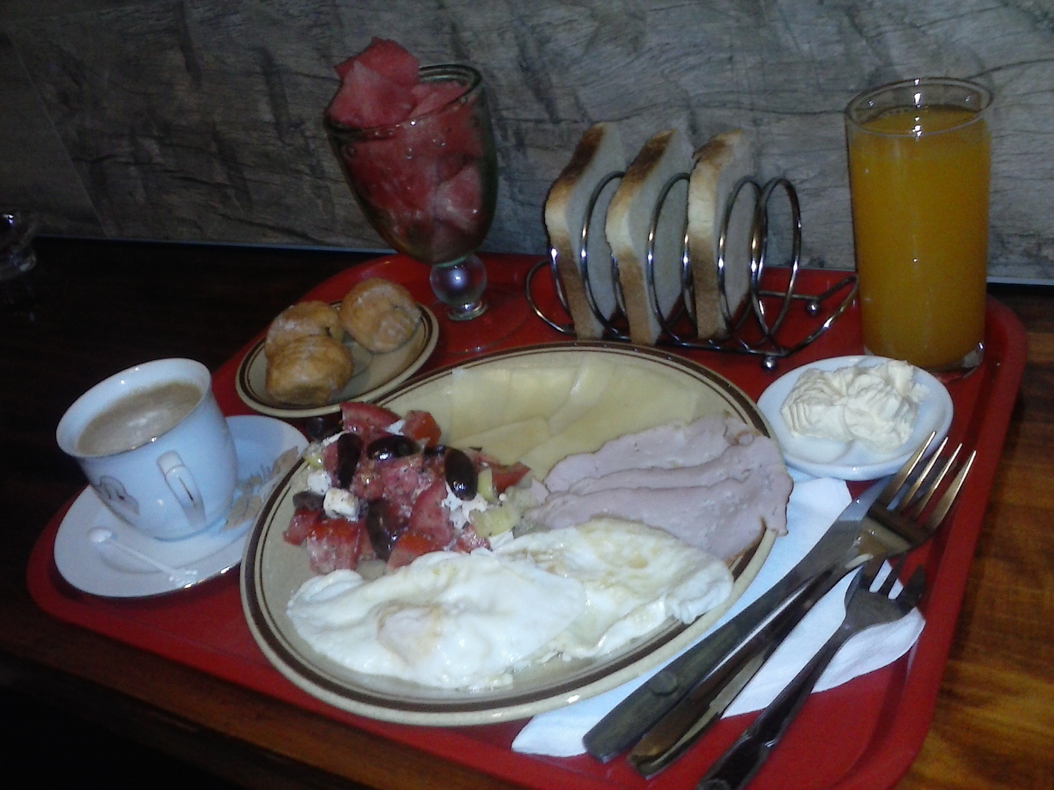 Authentic Belgrade Centre Hostel Breakfast for our guests from Finland