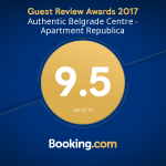 Authentic Belgrade Centre - Apartment Republica - Guest Review Awards 2017