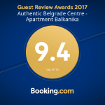 Apartment Balkanika - Guest Review Awards 2017